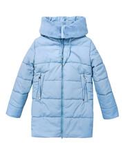 Winter Blue Child Girl's Coat Isolated On White.