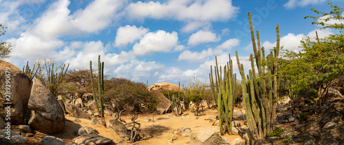 Photo Auf der Insel Aruba Casibari-Felsformationen , Panorama