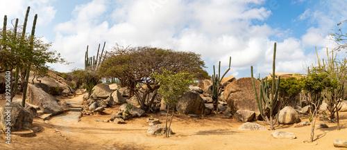 Photo Casibari-Felsformationen auf der Insel Aruba, Panorama