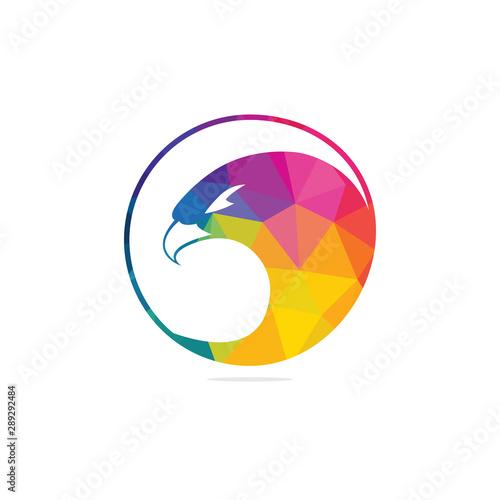 Fototapeta Eagle with shield logo design