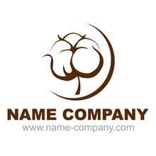 Logo Vectoriel Fleur De Coton Bio