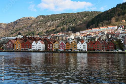 Poster Scandinavie village in norway