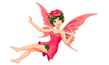Beautiful Flower Fairy Vector ...