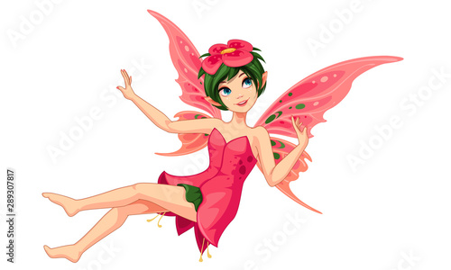 Fotomural  Beautiful flower fairy vector illustration 3