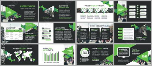 Fototapeta City Background Business Company Presentation with Infographics Template. obraz