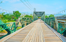 Walk Memorial Bridge In Pai, Thailand