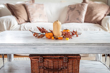 Autumn Table Decoration In A C...