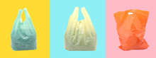 Plastic Bag On A Colorful Back...