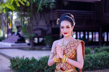 Smiling Woman In Traditional C...