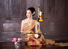 Woman In Traditional Clothing ...