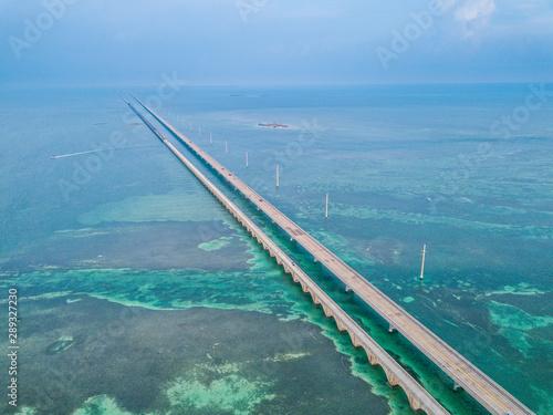 Aerial photo of Florida Keys Seven Miles Bridge Canvas-taulu