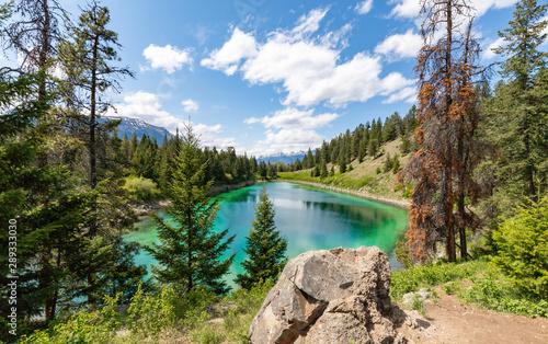 Obraz na plátně  Valley of five Lakes