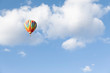 canvas print picture hot air balloon in the cloudy sky