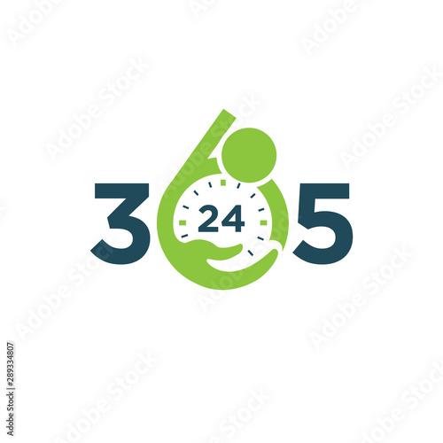 Care 365 day 24 hour logo/identity design template Fototapeta