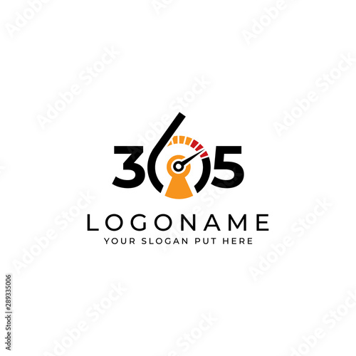 Obraz na plátne Security 365 logo/identity design template