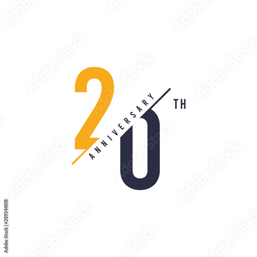 20 Years anniversary design Tapéta, Fotótapéta