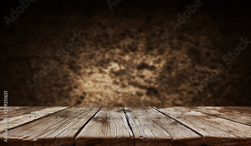 Fotografie, Obraz Empty old wooden table background