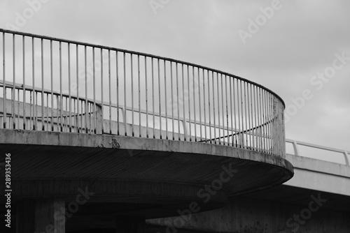 Türaufkleber Darknightsky Architecture curved railing