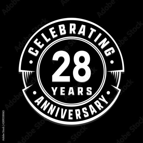 Fototapeta  Celebrating 28th years anniversary logo design