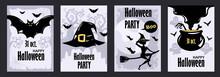 Halloween Flyers Set. Collecti...