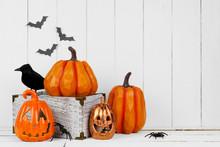 Halloween Display With Jack O ...