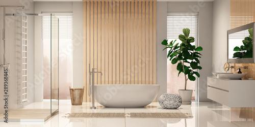 Modern bathroom interior Canvas Print