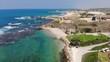 Israel, Kibbutz, Sdot Yam , Mediterranean, Sea, beach, sand, pier, trees, houses, landscape, view