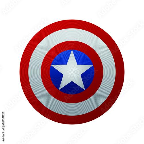 Captain America Shield. Vector illustration