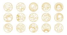 Asian Circle Pattern Set With ...