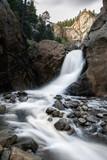 Waterfall in Mountainous Wilderness