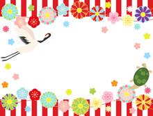 梅と桜と菊30 鶴亀