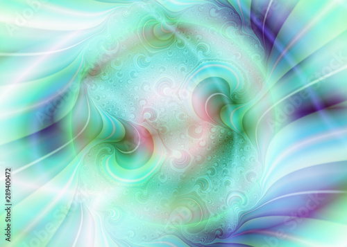 La pose en embrasure Fractal waves dream 291