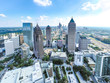 Aerial/Helicopter Panoramic picture of downtown Atlanta Skyline