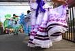 Leinwanddruck Bild Traditional Mexican dancing