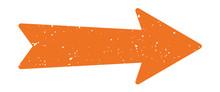 Distressed Arrow | Vintage Ora...