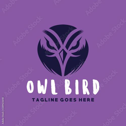 Owl Logo Vector Design Template. Modern Bird Emblem Icon. Mascot Symbol. Logo For Company And Business.