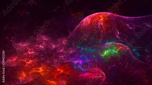 Foto op Canvas Texturen 3D rendering multicolored abstract fractal