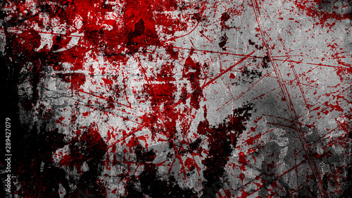 Fotografia grunge halloween background with blood splash space on wall