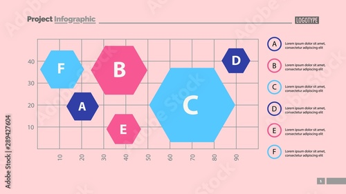 Pinturas sobre lienzo  Six hexagons on chart template