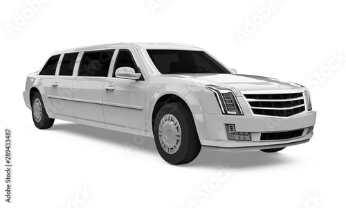 Photographie  Luxury Limousine Car Isolated
