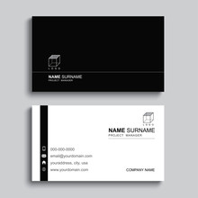 Minimal Business Card Print Te...