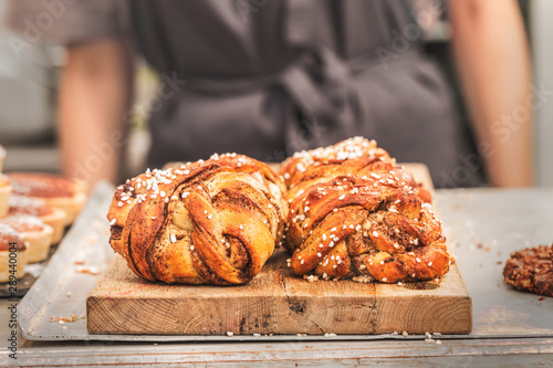 Canvas Prints Bread Swedish traditional cinnamon rolls