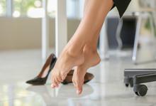 Young Businesswoman Having Break In Office