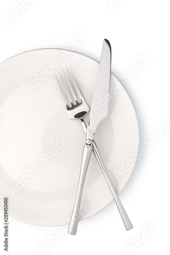 plate and cutlery Canvas Print