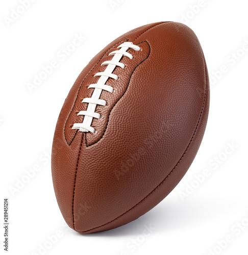 Leather American football ball