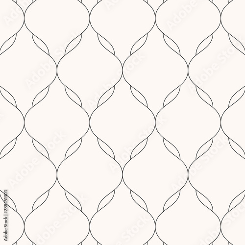 Carta da parati  Curve linear vector pattern, repeating linear abstract