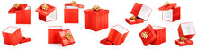 Red Gift Boxes Set