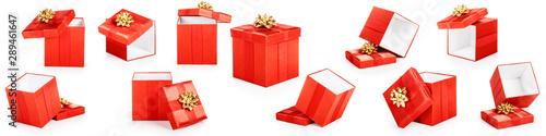 Obraz Red gift boxes set - fototapety do salonu