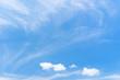 Leinwandbild Motiv Blue sky and white clouds abstract background.