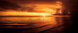 canvas print picture - Sonnenuntergang an der Nordsee in Esbjerg, Dänemark